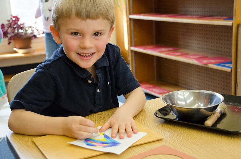 Children's House Art - Greenspring Montessori School