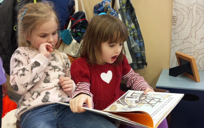 Students Reading - Greenspring Montessori School
