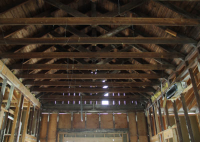 Original rafters in the building