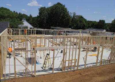 Walls going up for five new classrooms