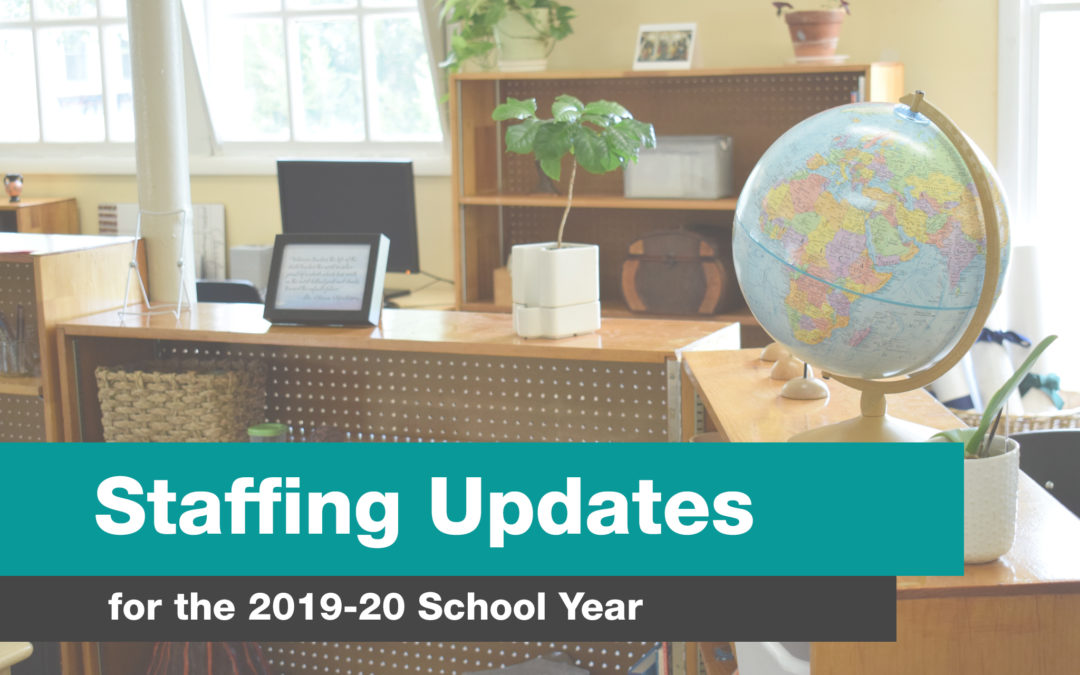 Staffing Update for 2019-20