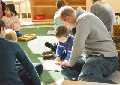 Take Your Parent to School Day - Greenspring Montessori School-3